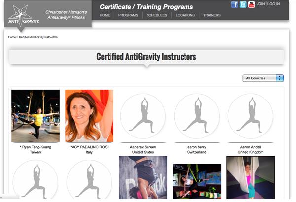 Certificazioni Antigravity international Rosi Padalino